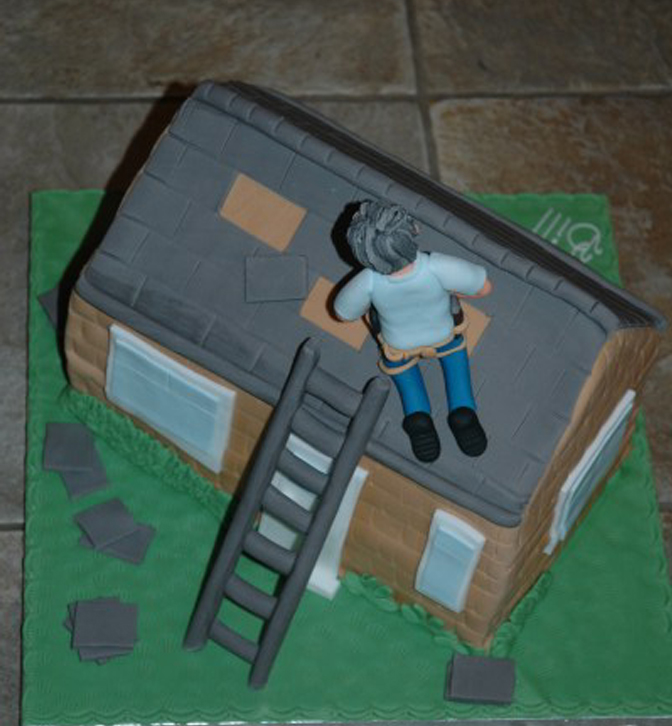 Roofer novelty cake